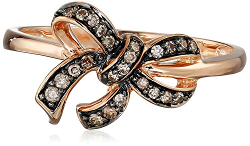 10k-Rose-Gold-Brown-Diamond-Bow-Ring-14-cttw-H-I-Color-I2-I3-Clarity-Size-8