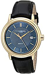 """Raymond Weil Men's 2837-PC-50001 """"Maestro"""" Gold-Tone Stainless Steel Watch with Black-Leather Strap"""