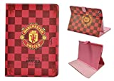 Apple ipad 2 Case,Apple ipad 3 Case,Apple ipad 4 Case,UK-Cherry ® Real Madrid Barcelona Chelsea Manchester United AC Milan Liverpool Arsenal Football Team Team Logo American Flag Stars and Stripes British Union Jack Pattern Design Series Flip PU Leather Case Cover for Apple ipad 2 3 4 Tablet PC (Apple ipad 2/3/4, Manchester United)