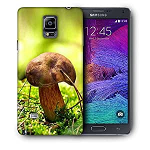 Snoogg Mushroom Printed Protective Phone Back Case Cover For Samsung Galaxy NOTE 4 / NOTE IIII