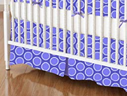 SheetWorld - Crib Skirt (28 x 52) - Primary Bubbles Blue Woven - Made In USA