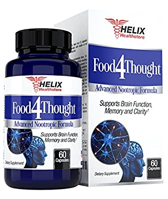 BEST Brain & Memory Function Support Supplement. Advanced Nootropic Formula to Boost Brainpower, Mood, Focus and Mental Clarity. Super Ginkgo Biloba Complex with DMAE & St. John's Wort. Made in USA.