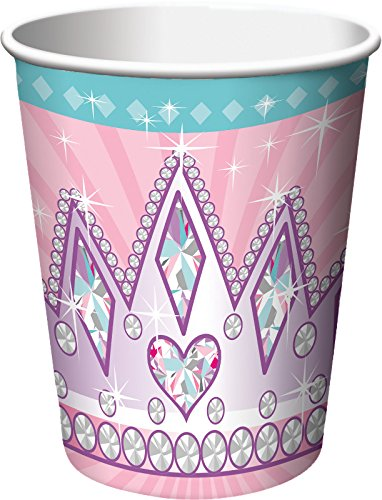 Creative Converting 8 Count Princess Party Hot/Cold Cups, 9 oz, Pink - 1