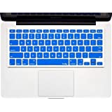"Kuzy - BLUE Keyboard Cover Silicone Skin for MacBook Pro 13"" 15"" 17"" (with or w/out Retina Display) iMac and MacBook Air 13"" - Blue"