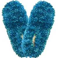 Bright Turquoise - Fuzzy Footies - Slippers Foot Coverings Comfy Cozy