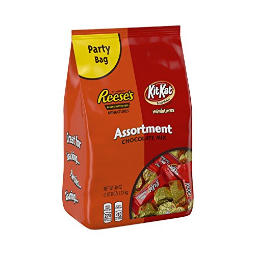 Hershey's KIT KAT and REESE'S Miniatures Chocolate Mix (40-Ounce Bags, Pack of 2) (Chocolate Miniatures compare prices)