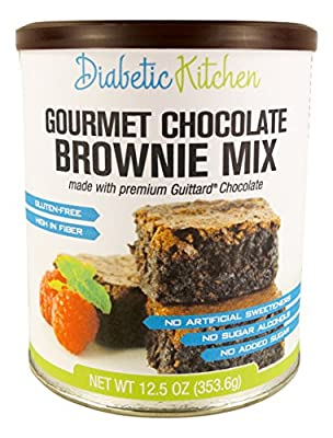 Diabetic Kitchen Gourmet Chocolate Brownie Mix Makes The Moistest, Fudgiest Brownies Ever Gluten-Free, High-Fiber, Low-Carb, No Artificial Sweeteners or Sugar Alcohols (12.5 OZ) from Diabetic Kitchen