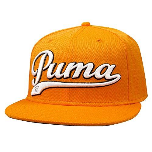 Puma Logo Script Cool Cell Snapback Cap - VIBRANT ORANGE