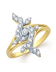 Meenaz Fancy Wale Gold And Rhodium Plated Cz Ring FR111 For Women