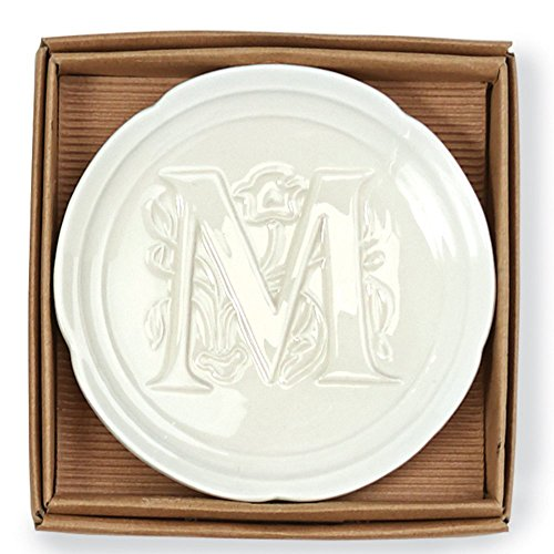 Mud Pie Boxed Initial Accessory Dish-M