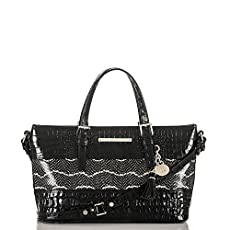 Mini Asher Tote<br>Black Mandana