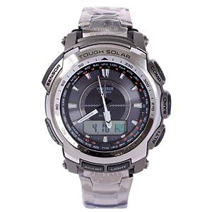 Casio Protrek Triple Sensor Solar Power Titanium Watch PRG-510T-7 by Casio