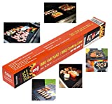 4TopTime Grill Mats ( 3 Pack ) Non-Stick Baking Mats for Grilling, Oven and Barbecue Use .  Kitchen Cooking Accessory.  Improved Heat Distribution