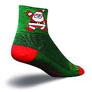 SockGuy Santa 3 in. Quarter Crew Socks (Green Small/Medium)