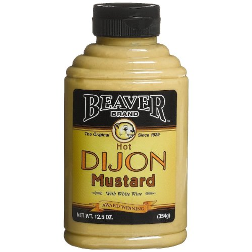 Beaver Brand hot Dijon Mustard with Wine, 12.5-Ounce Squeezable Bottles