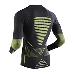 X-BIONIC Maillot à manches longues Energy Accumulator EVO pour Homme  Gris - Charcoal/Yellow -  S/M