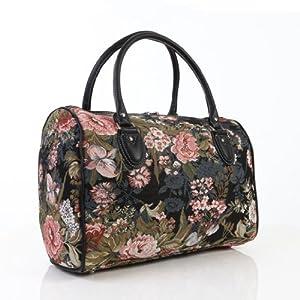 Ladies travel bag/weekend bag/gym bag/cabin approved hand luggage Peony Flower