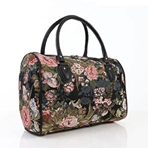 Ladies travel bag/weekend bag/gym bag/cabin approved hand luggage Peony Flower