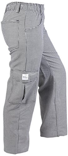 Mercer Culinary M61071HTL Genesis Women's Chef Cargo Pant in Hounds Tooth, Large, Black/White (Happy Chef Cap compare prices)