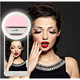 Selfie Ring Light (Batteries Not Required - Rechargeable ) - All Phones and Sizes. | Make Up - Small and Compact | Phone 6 plus/6s/6/5s/5/4s/4/Samsung Galaxy S6 Edge/S6/S5/S4/S3/Galaxy Note 5/4/3/2 PR
