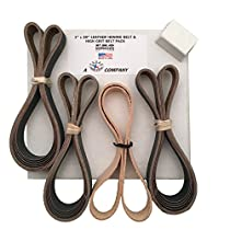 1x30 High Grit Assorted 15 Belt Pack of 600, 800, 1000 + Leather Strop & Compound Made in USA