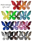 12 Fairy Pixie Wings for Party Dress up Pretend Play Costume