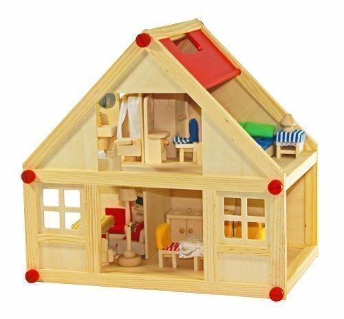 FREDA Puppenhaus + Möbel 28 Teile + Hussen +