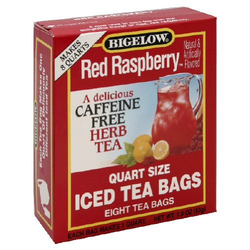 Bigelow Red Raspberry Iced Tea, 8-Count Boxes (Pack of 6)