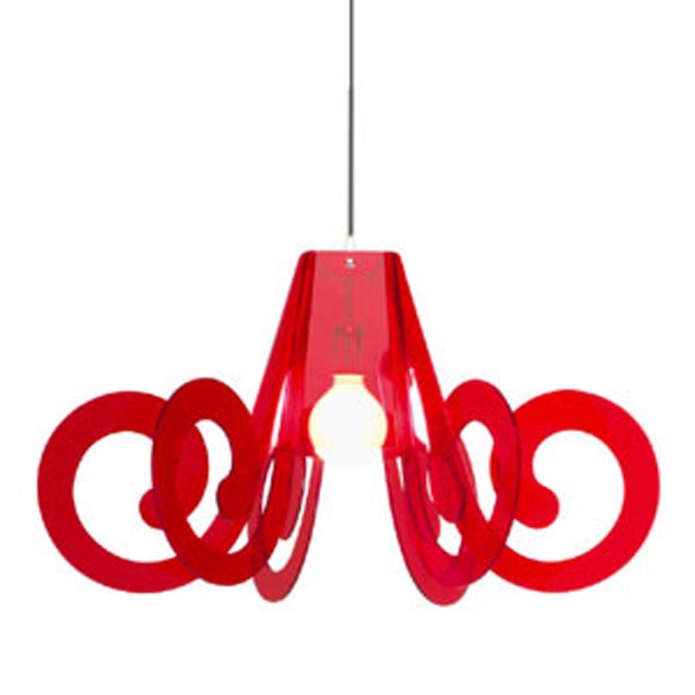 Lucelab Lampenschirm für Hängelampe, 1 Licht, Farbe: Orange, Größe: groß