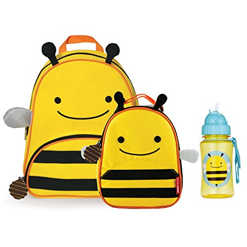 Skip Hop Zoo Backpack, Lunchie, and Bottle Set, Bee - 1