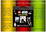 DK LEGO STAR WARS CARRY CASE / CARRY BAG - 3 books included: 1. Ultimate Sticker Book-Heroes 2. Lego Star Wars-The Visual Dictionary 3. Ultimate Sticker Book-Villains *More than 500 reusable, full-colour stickers (RRP: 19.97) GIFT-WRAPPED FREE (Includes