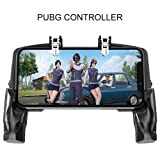 TOHUU Mobile Game Controller Pubg,Finger Linkage Game Handle Peace Elite Fast Shooting Button Controller for PUBG Rules of Survival Game Trigger Joystick Gamepad for 4-6.5 iOS & Android Phone