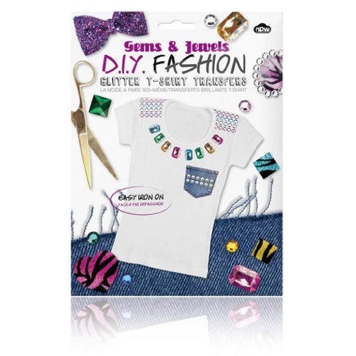 DIY Fashion - Glitter T-shirt Transfers Gems & Jewels - 1