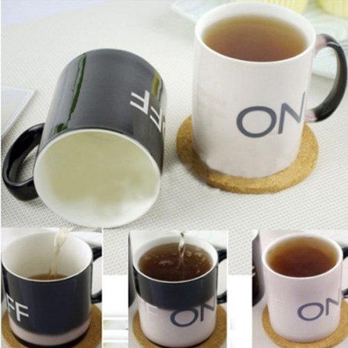 Magical Coffee Mugs Temperature Off On Switch Color Changing