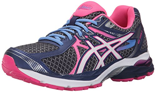 ASICS Women's Gel-Flux 3 Running Shoe, Indigo Blue/White/Hot Pink, 9.5 M US
