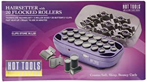 HOT TOOLS HTS1403 Tourmaline Hairsetter Rollers, White Base/Grey