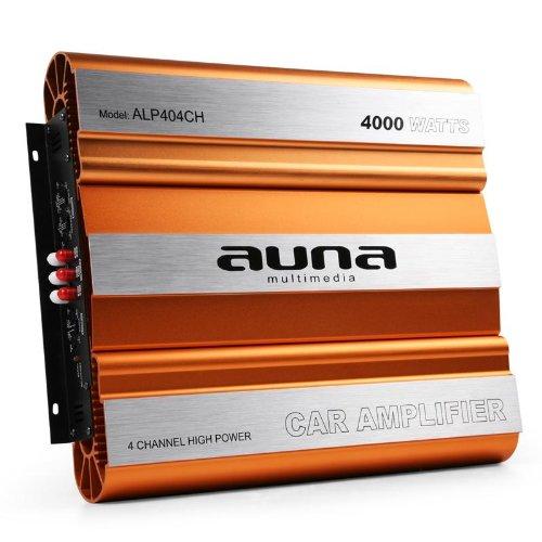 Auna-Auto-Endstufe-Auto-Verstrker-4000W-max-4-3-2-Kanal-brckbar-HochTiefpass-Super-BassBoost-MOSFET-Technologie-Aluminium-Chassis-orange