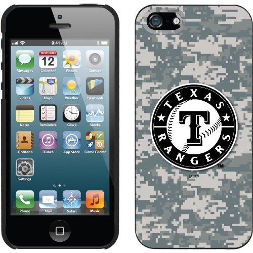 Great Sale Texas Rangers - Digi Camo Rangers Emblem design on a Black iPhone 5s / 5 Thinshield Snap-On Case by Coveroo