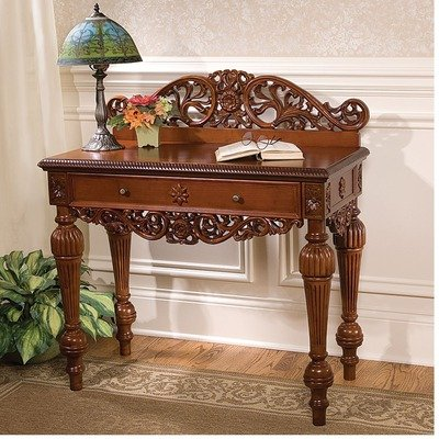 Cheap British Colonial Hand-Carved Console Table (KS4209)
