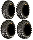 Full set of GBC Dirt Devil (6ply) 25x8-12 and 25x10-12 ATV Tires (4)