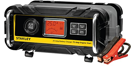 Stanley BC25BS 25 Amp High Frequency Bench Battery Charger with 75 Amp Engine Start, Alternator Check and Battery Reconditioning (Battery Chargers Automotive compare prices)