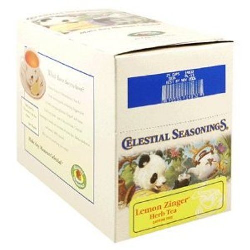 Celestial Seasonings Lemon Zinger Herbal Tea, 24-Count K-Cups for Keurig Brewers