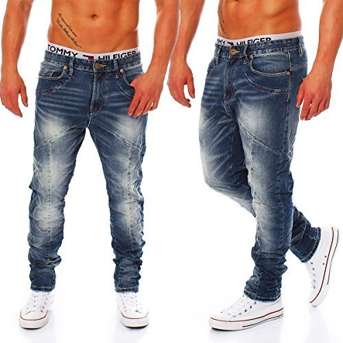 M.O.D Herren Jeans Mark bonita blue L 32 (L32/W33)