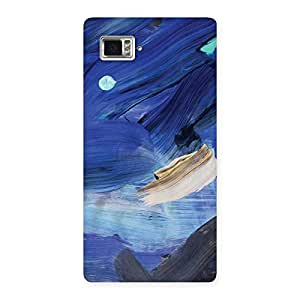 Gorgeous Blue Paint Work Print Back Case Cover for Vibe Z2 Pro K920