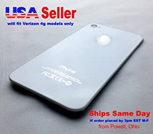 iPhone 4 for Verizon White Glass Replacement Back Cover