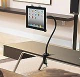 【ARINO】タブレット用スタンド/ipadスタンド ホルダー マウント アーム付き 360度調整可能 グースネック【1年間の安心保証】iPad mini/iPad air/iPad2/3/4/ Nexus 7等タブレット対応(ブラック)