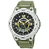 Armitron Sport Men's 20/5129OGN Analog-Digital Day/Date Function Army Green Resin Strap Watch