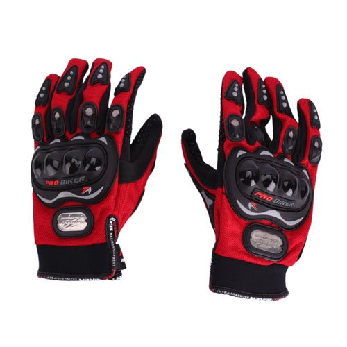 Bicycle/Motorcycle Riding Protective Gloves Red L