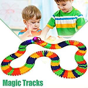Magic Tracks with 1 Race Car   As Seen on TV   220 Piece Glowing Track Set