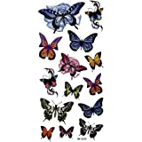 GGSELL Fashion design Waterproof colorful tattoo stickers insects butterflies